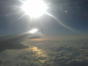 Bild aus dem Flugzeug